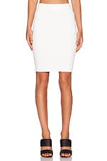 Pencil Midi Skirt in White