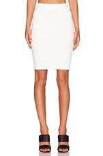 Pencil Midi Skirt in White