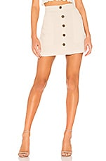 Sanctuary Trail Blazer Button Front Utility Skirt in Washed Pebble