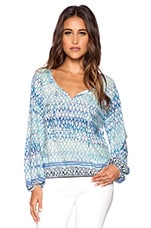 Gypsy Blouse en Blue Island