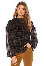 Sanctuary Bria Smocked Blouse in Spice Of Life Dots