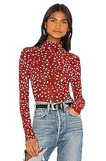 Sanctuary Sheer Talent Mesh Top in Red Leopard