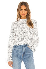 Sanctuary Solstice Mock Neck Blouse in Confetti Dot
