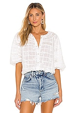 Sanctuary Country Lane Heirloom Blouse in Embroidered White
