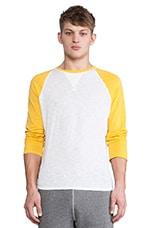 Griffey Baseball Shirt in Yellow & White