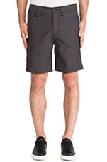 Bellows Twill Short in Black