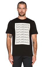 SATURDAYS NYC Saturdays Block Tee in Black