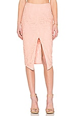 Zoe Lace Pencil Skirt in Dusty Rose