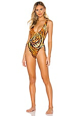 Sauvage Tiger High Leg One Piece in Tiger