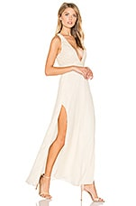 SAYLOR Lotus Dress in Champagne