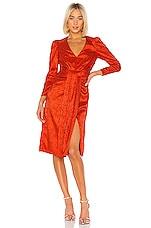 SAYLOR Farrow Dress in Flame
