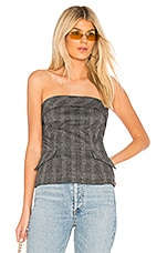 SAYLOR Eileen Top in Grey & Black