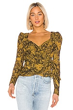 SAYLOR Leonie Blouse in Mustard