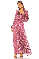 Sabina Musayev Cherry Dress in Printed Raspberry