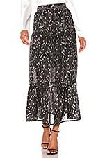 Sabina Musayev Portia Skirt in Silver Black