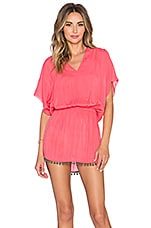 Calif V Caftan en Rose Blush