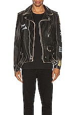 Schott PER74 Hand Painted Vintage Perfecto Jacket in Black