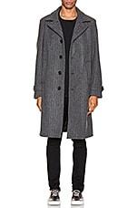 Schott Belder Wool Coat in Charcoal