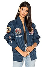 Flight Jacket in Navy