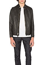 Schott Vintaged Cafe Moto Jacket in Black