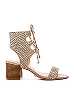 Darby Calf Hair Sandal in Brush Sand