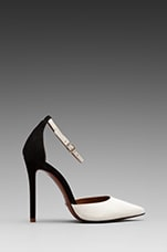 Irma Colorblock Pump in Black/White