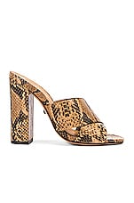 Schutz Zada Mule in Honey Beige Snake