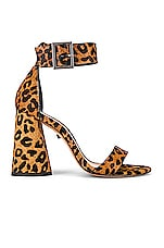 Schutz Pepita Heel in Sandstone & Black Leopard