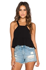 Liam Crop Top in Black