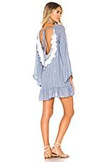 Sundress Indiana Basic Dress in Roma Powder Blue & White