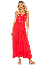 Sundress Robyn Dress in Red & Mini Daisies Embroideries