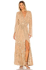 Sundress Nataly Dress in Cafe Au Lait & Gold