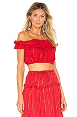 Sundress Noa Crop Top in Roma Red