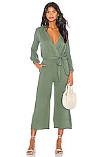 SUNDRY Belted Jumpsuit in Loden