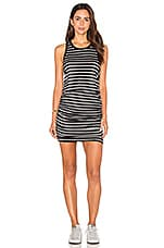 ROBE COURTE SLUB SPANDEX STRIPES SLEEVELESS