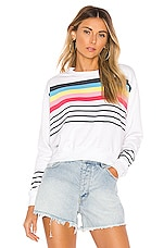 SUNDRY Crop Blouson Sweatshirt in White