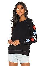SUNDRY Stars Raglan Sweatshirt in Navy