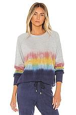 SUNDRY Raglan Pullover in Multi Tie Dye