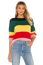 SUNDRY Slouchy Sweater in Multi Color