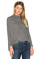 Drapey Pullover in Heather Grey Stripe