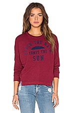 SUNDRY The Sun Pullover Top in Hibiscus