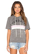 SWEAT MANCHES COURTES SUNDAY STRIPES