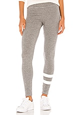 SUNDRY Stripes Yoga Pant in Heather Grey