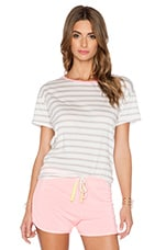 T-SHIRT STRIPE LOOSE CREW