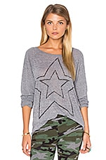Star Long Sleeve in Burnout Heather Grey