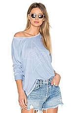 SUNDRY Star Studded Tee in Chambray