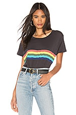 SUNDRY Rainbow Vintage Tee in Soft Black