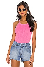 SUNDRY Strappy Tank Top in Pigment Neon Pink