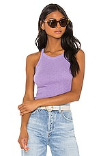 SUNDRY Strappy Tank Top in Pigment Violet