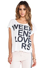 Weekend Lovers Tee in White